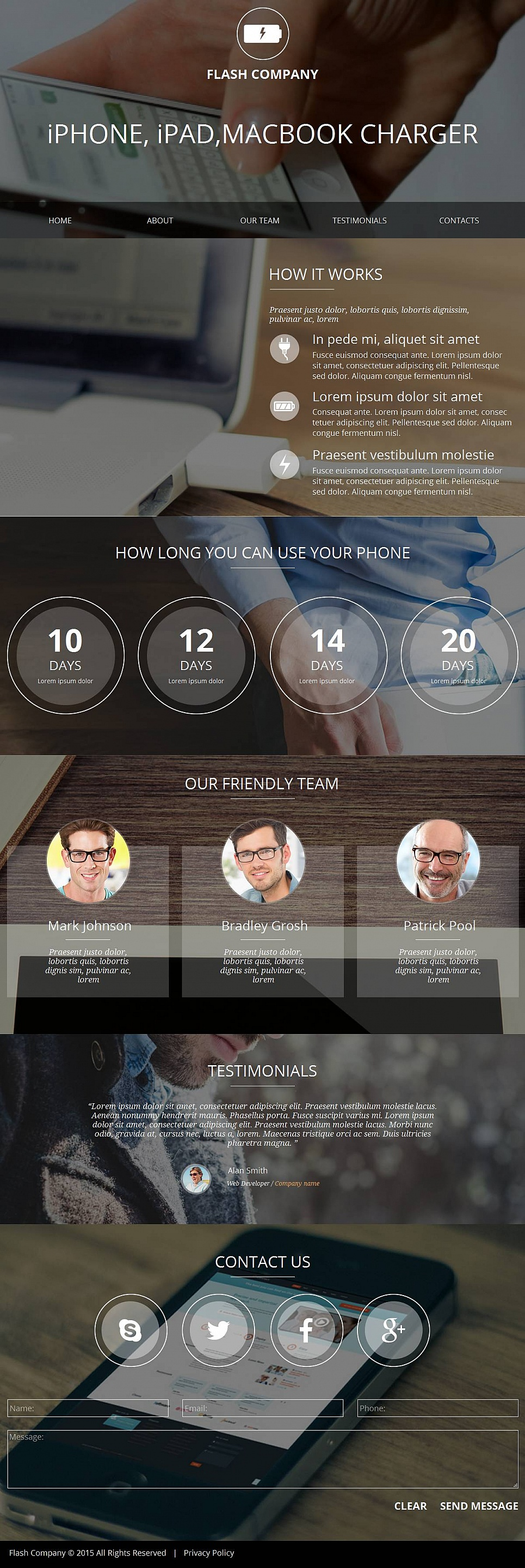 Webseite-Vorlage für Gadgets, die Ihr Leben einfacher machen - image