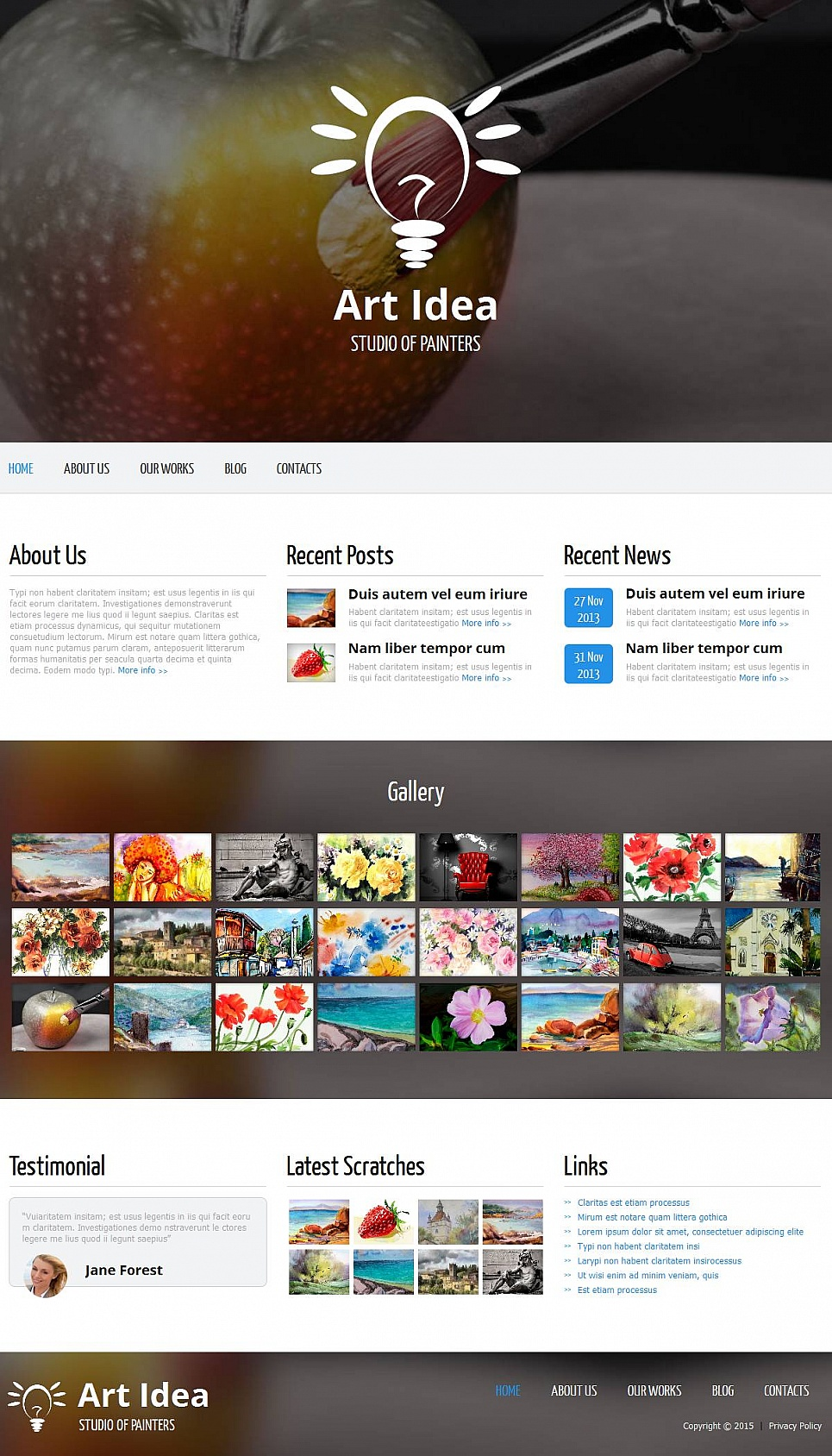 Art and Design Portfolio Web Template - image