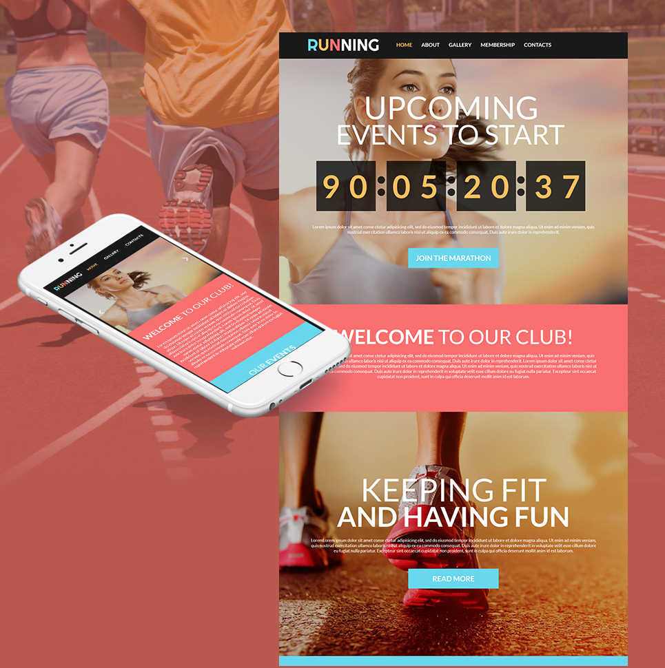 Events and Sports Web Theme - image