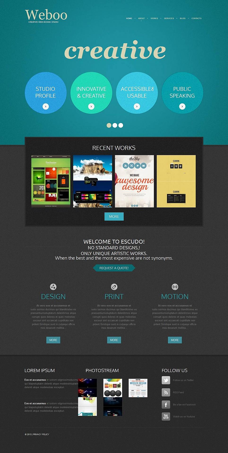Szablon Strony Studio Web Design - image