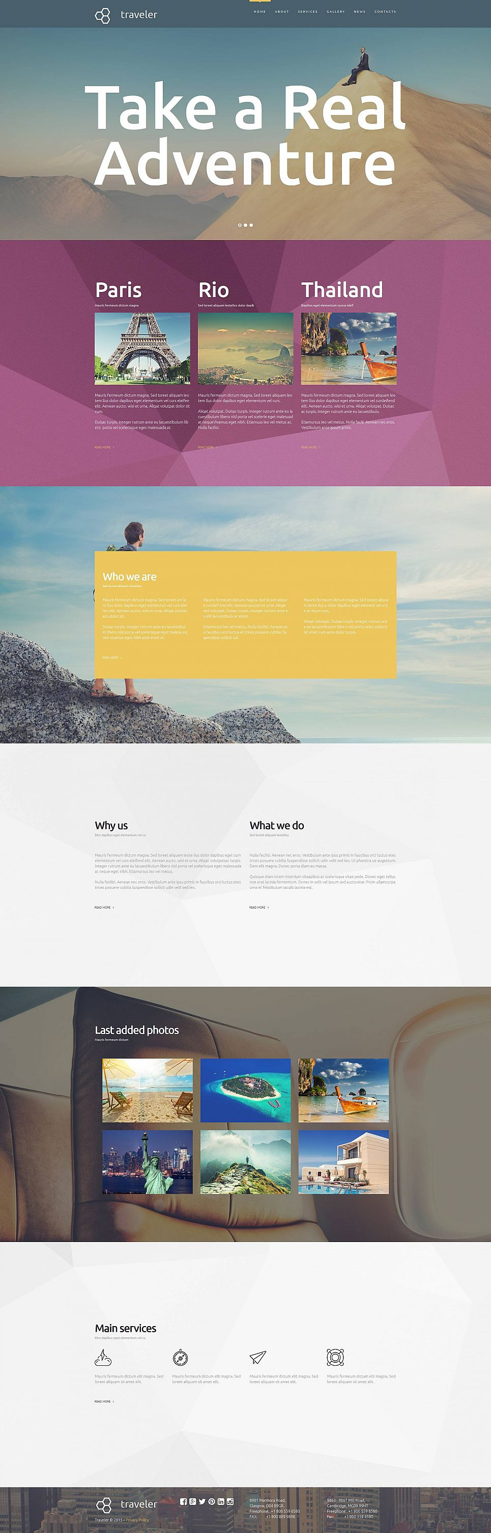 Adaptive Homepage-Vorlage für ein Reisebüro - image