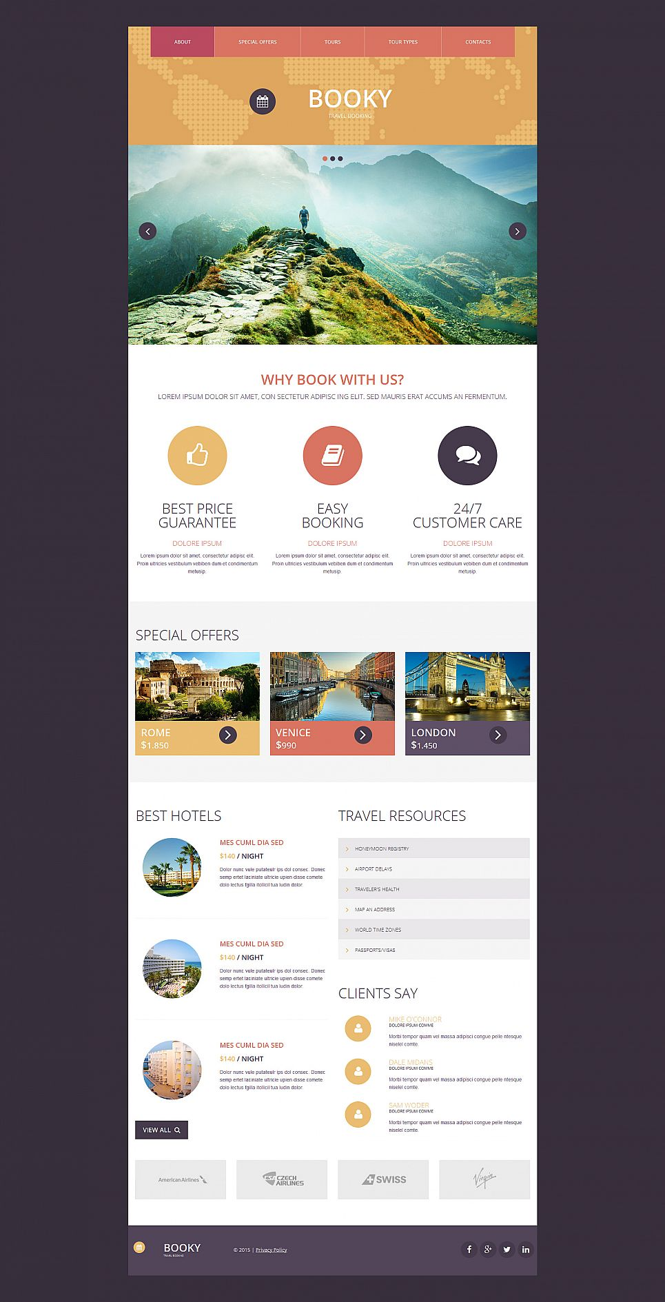 Travel Business Web Template - image