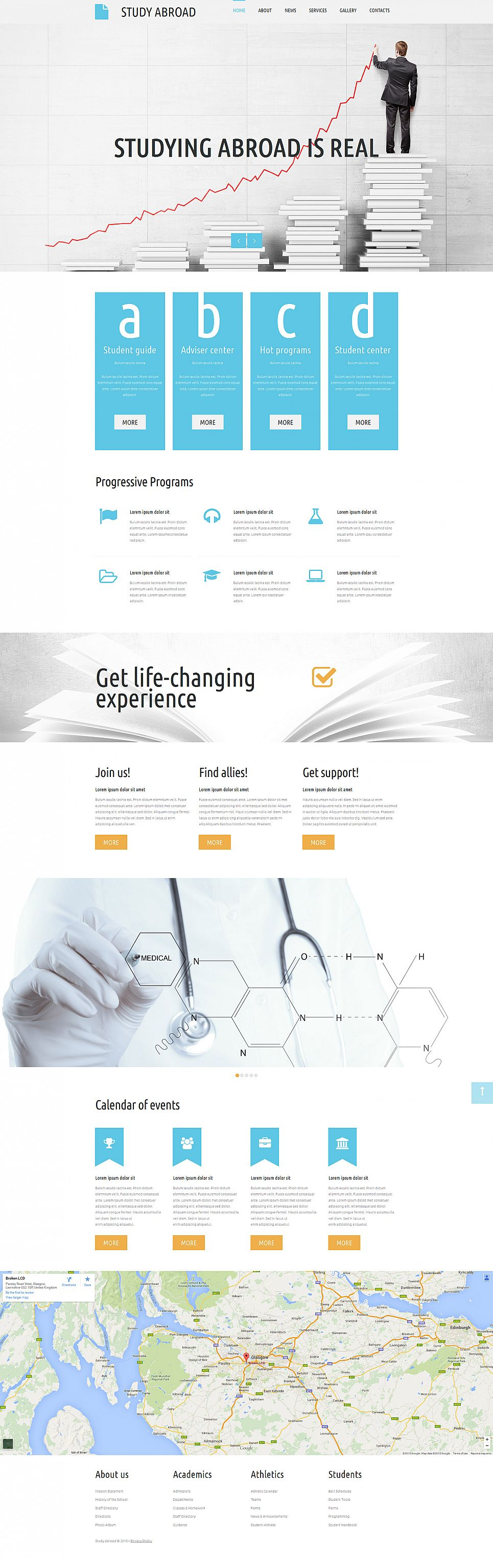 Responsive Education Website Template - image