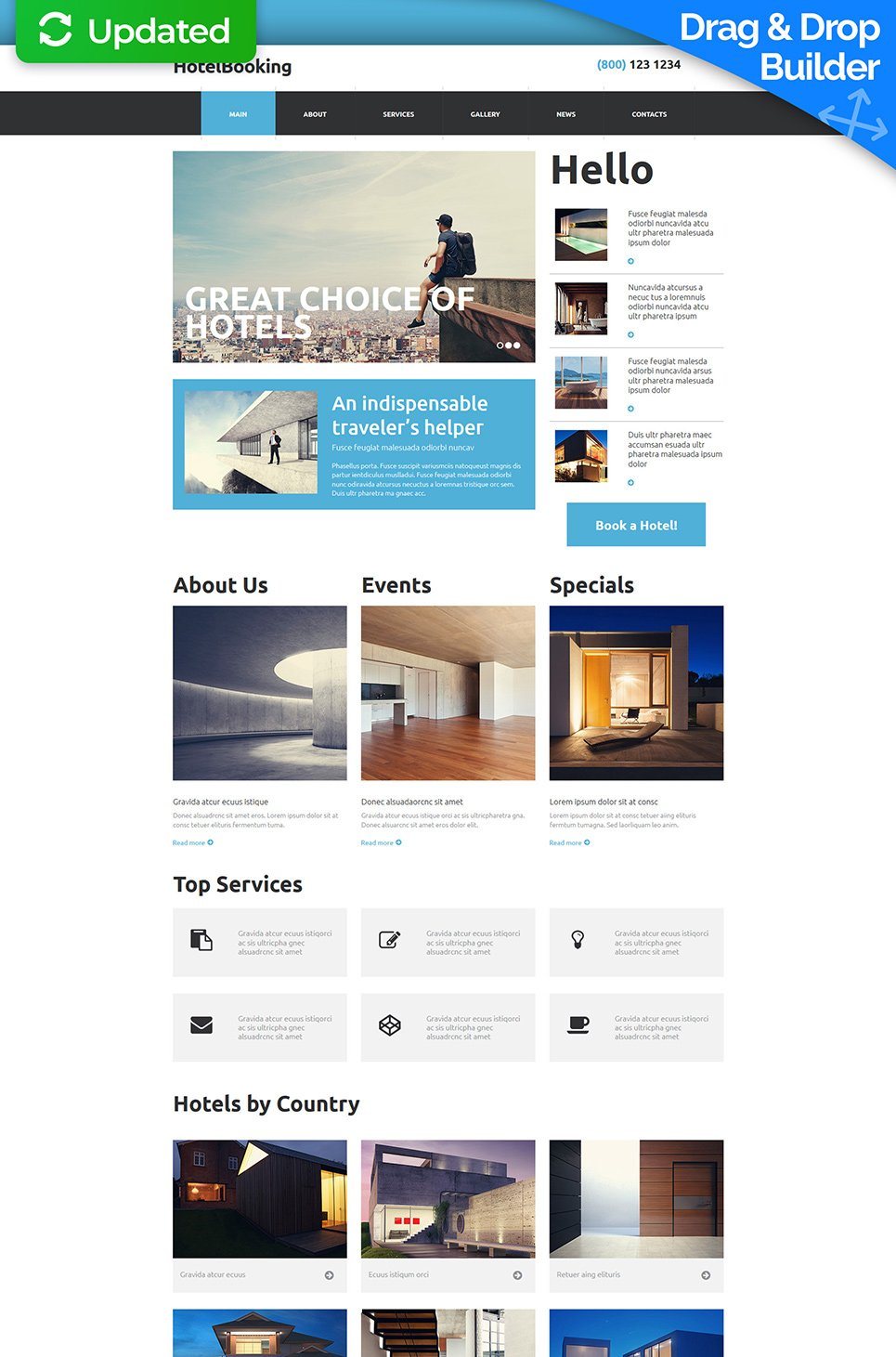 Homepage-Vorlage für die Hotelbuchung - image