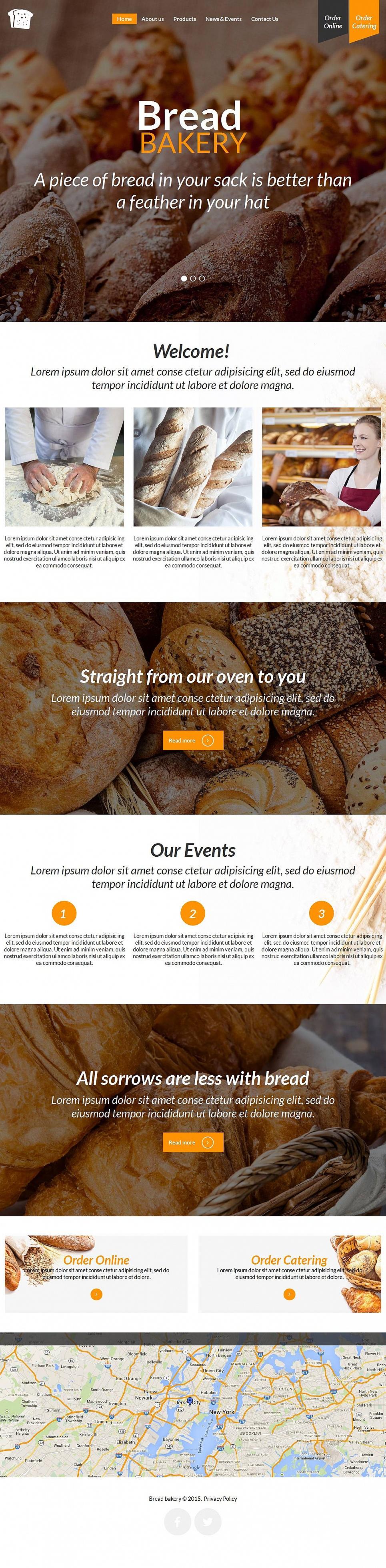 Bread Bakery Website Theme - image