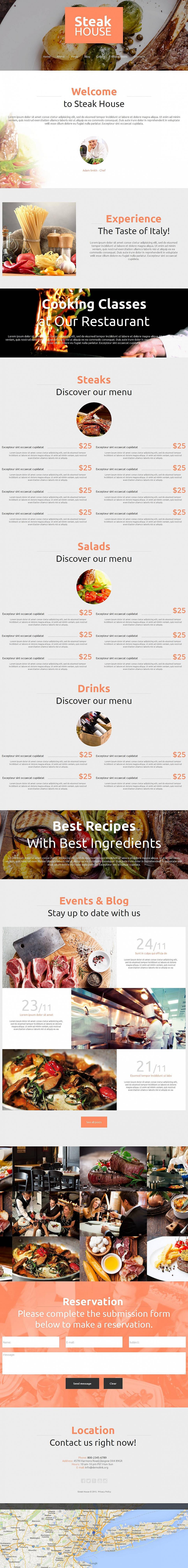 MotoCMS HTML Шаблон #53234 из категории Кафе и рестораны - image