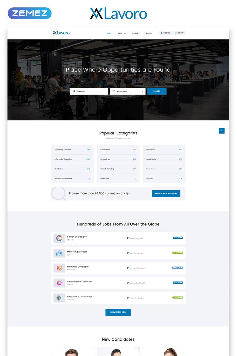 Plantilla web 53408 para sitio de portal de empleo for 53408