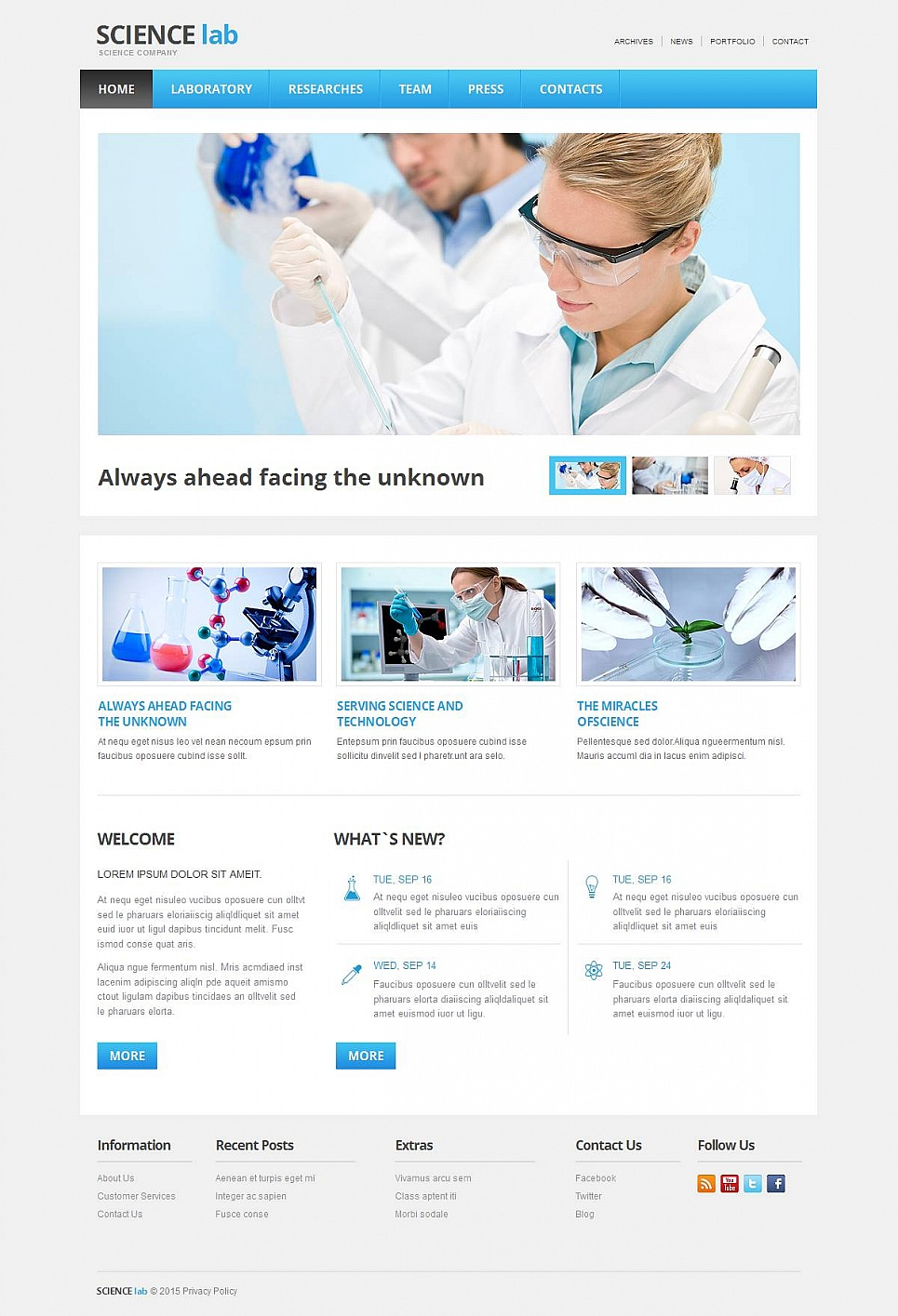 Science Laboratory Website Design - image