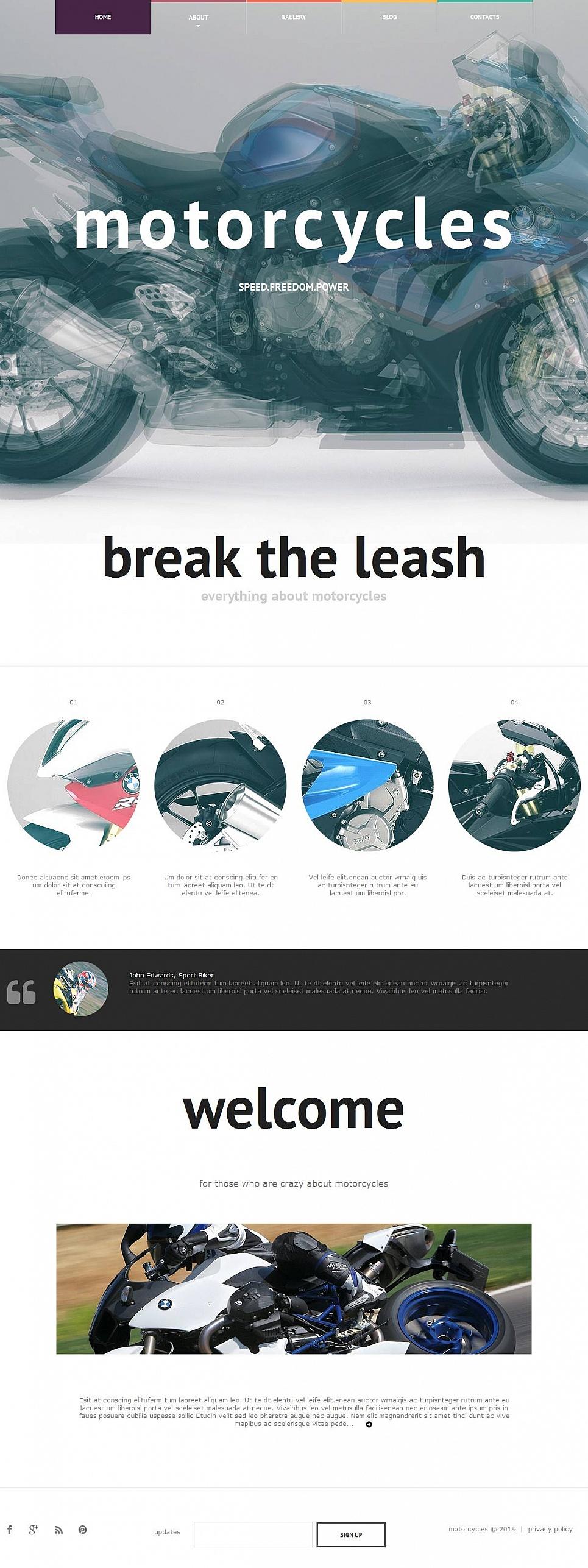 Motorbikes Website Template - image