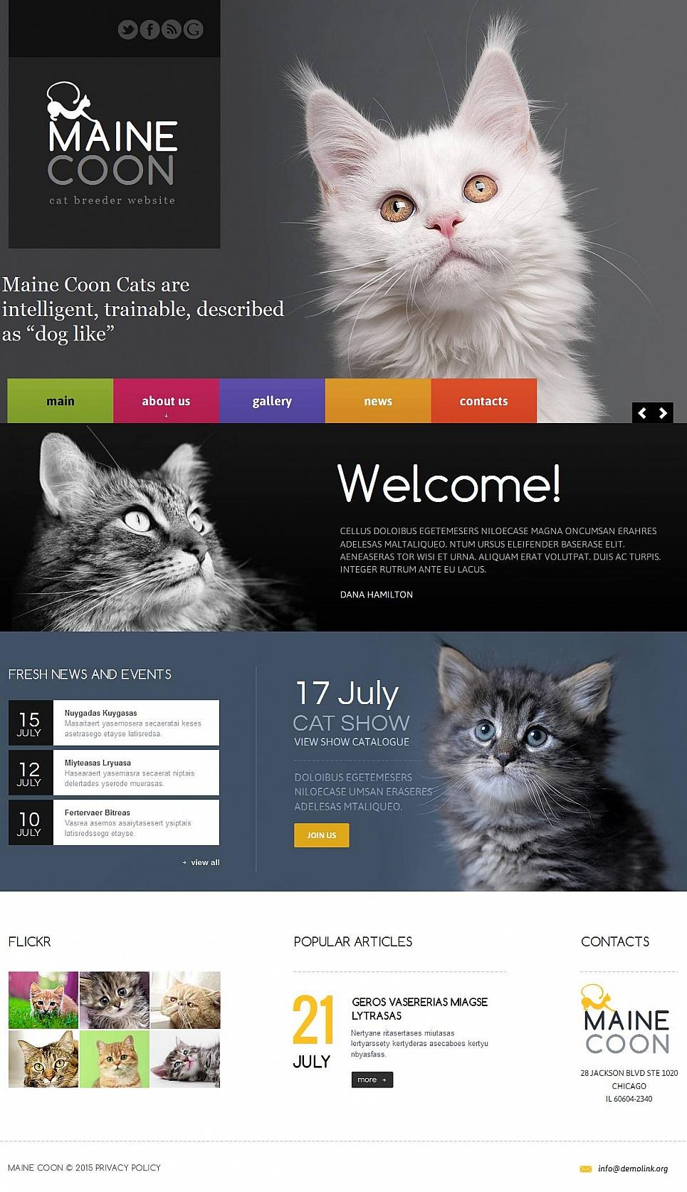 MotoCMS HTML Vorlage #53517 aus der Kategorie Tiere - image