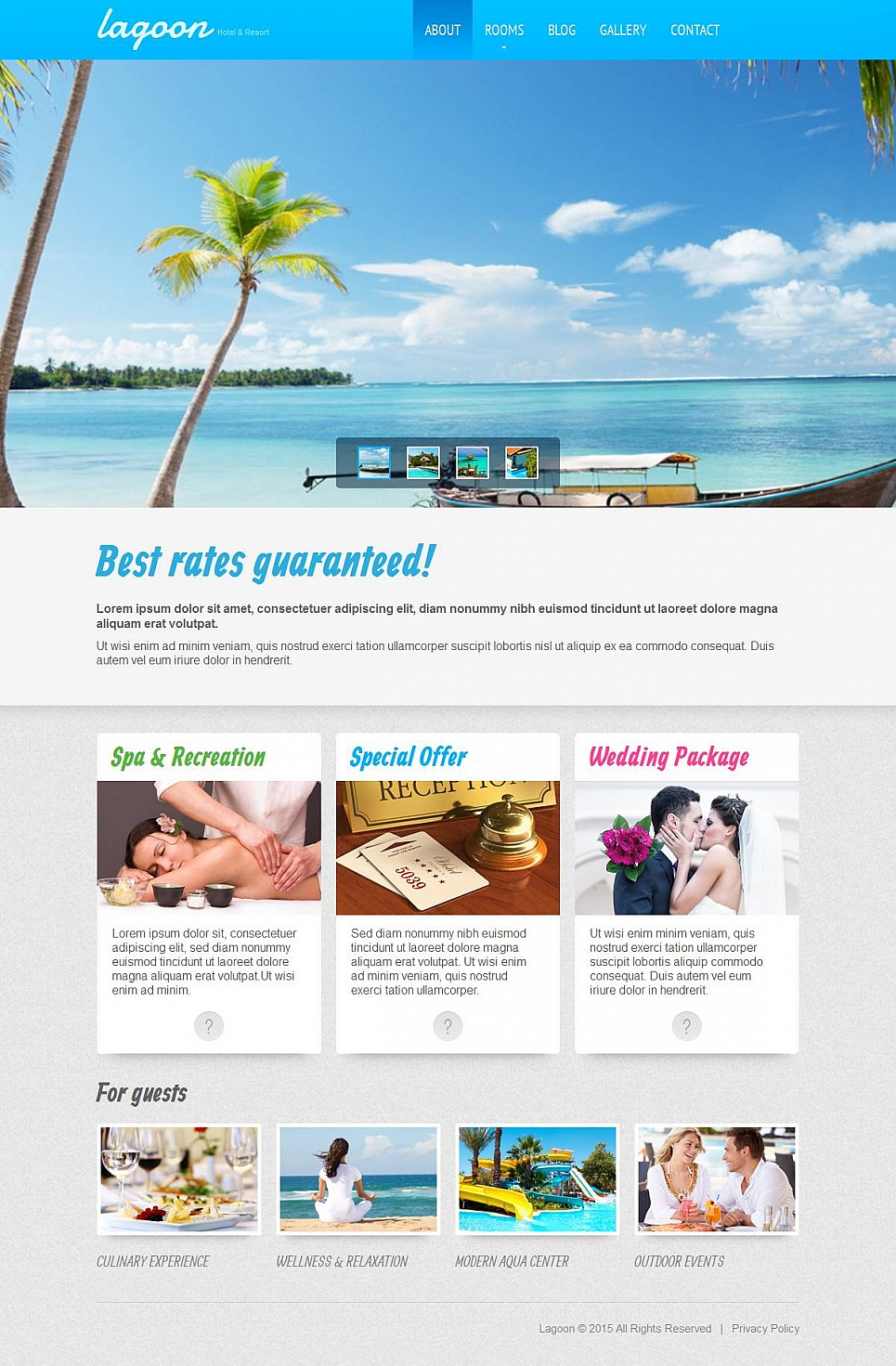 Best Hotel Site Template - image