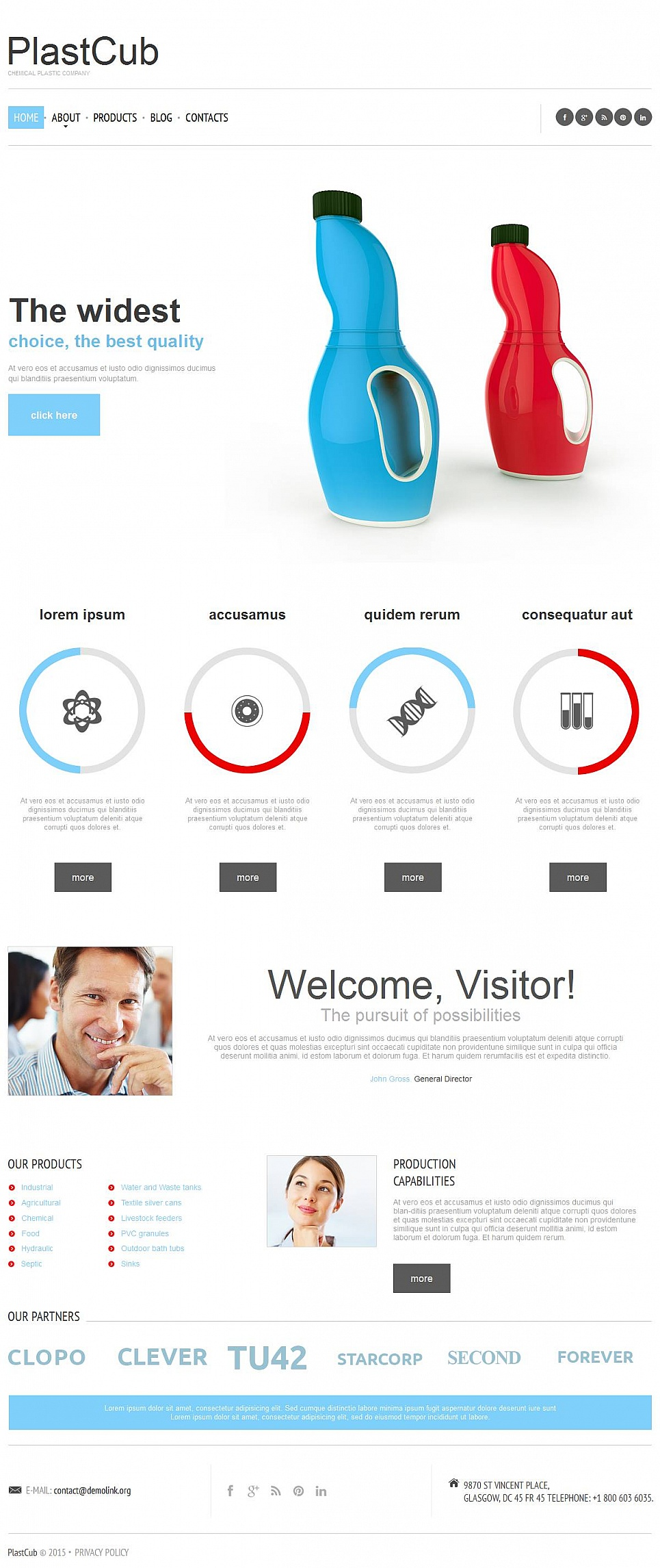 Chemical Company Website Template - image