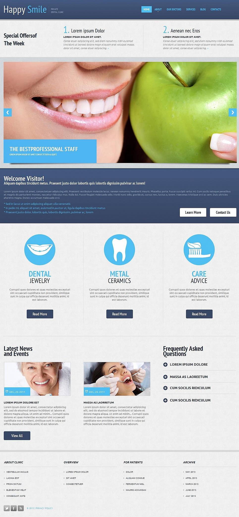 Complete Dentist Website Design - image