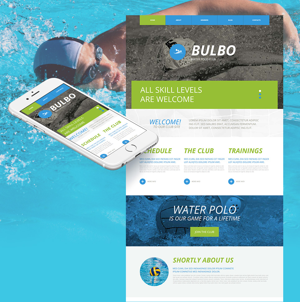Water Polo Website Design - image