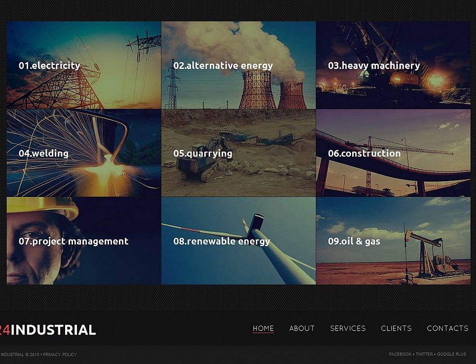 Industry Website Theme with CMS - image