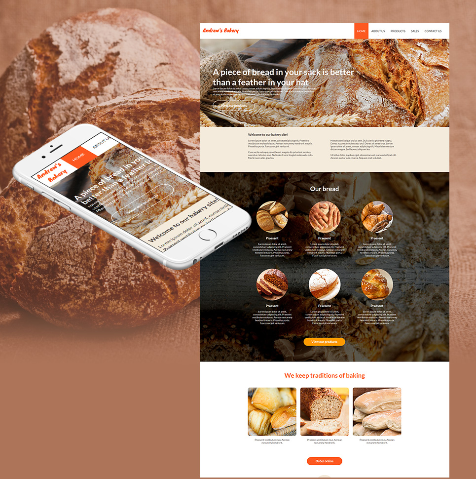 Website Template for Bread Baking Business - image
