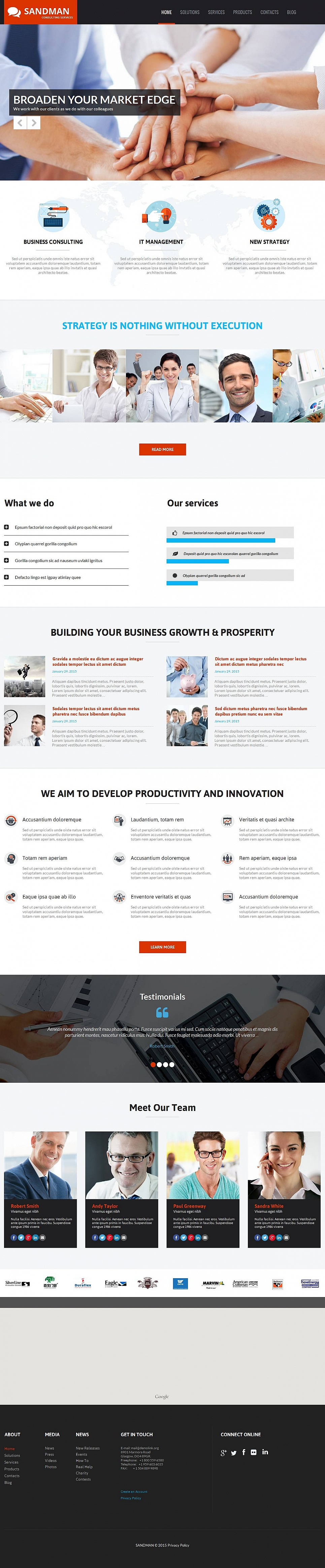 Consulting Services Website Design - image