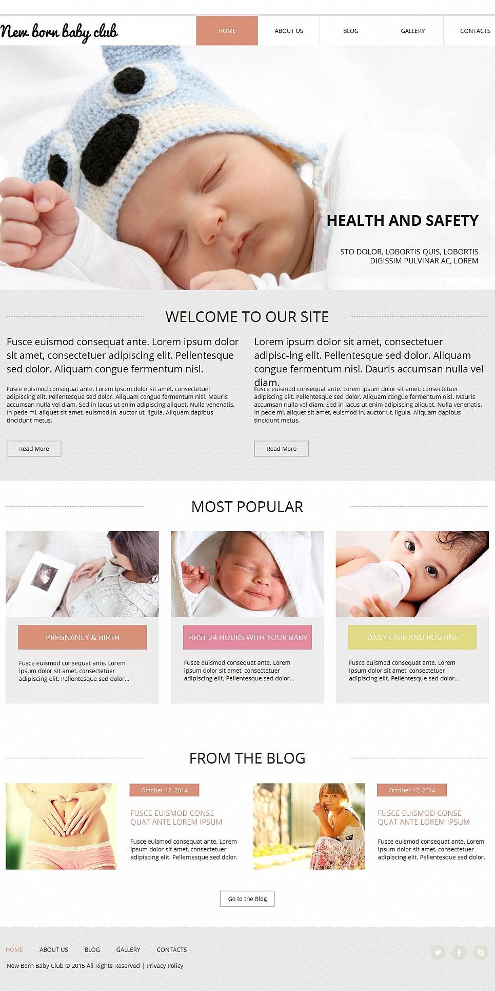Newborn Baby Web Theme - image