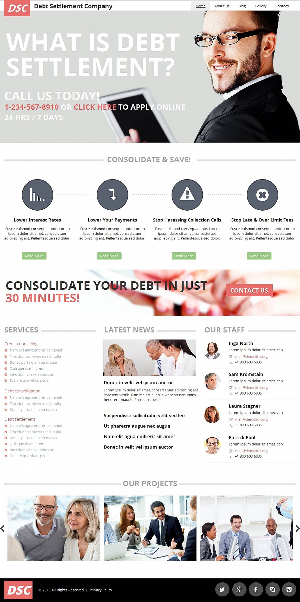 Debt Consolidation Website Template - image