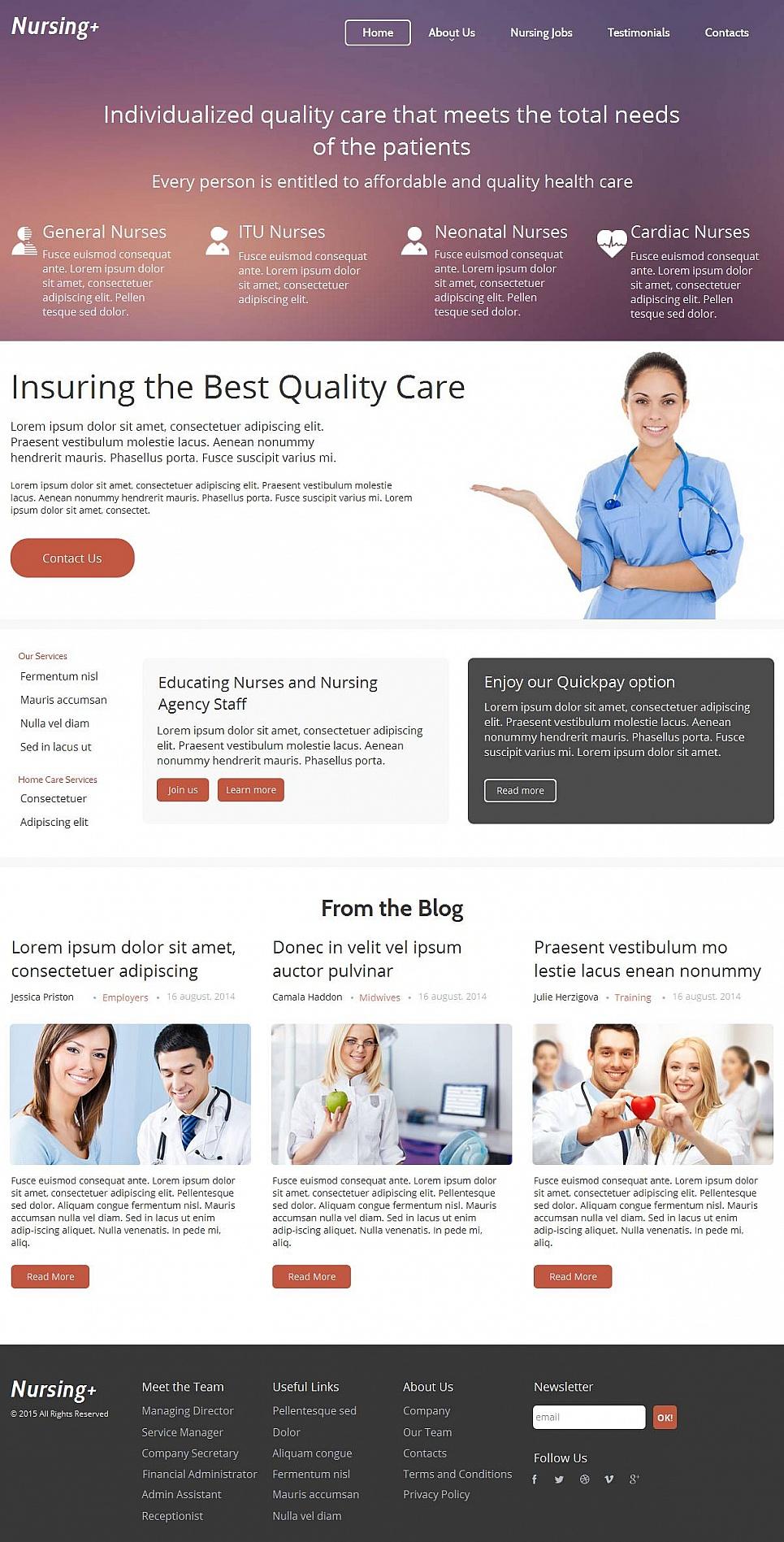 Nursing Care Website Design - image