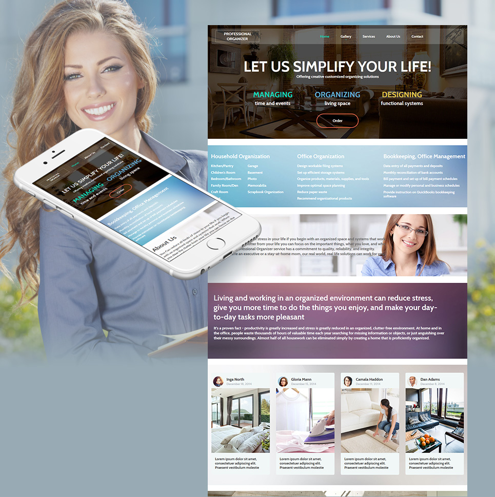 Organizing Solutions Website Template - image