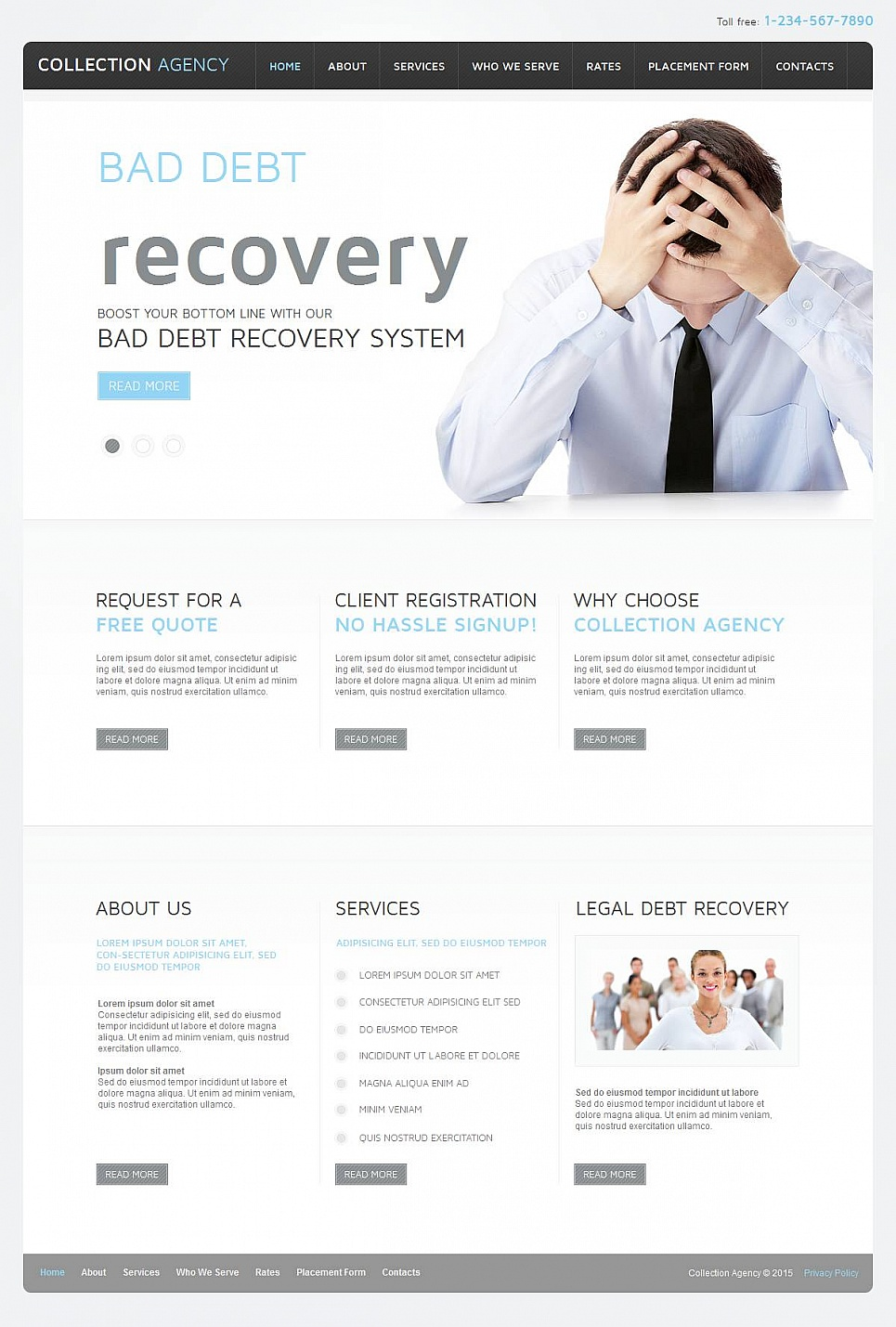 Website Template for Debt Recovery Business - image