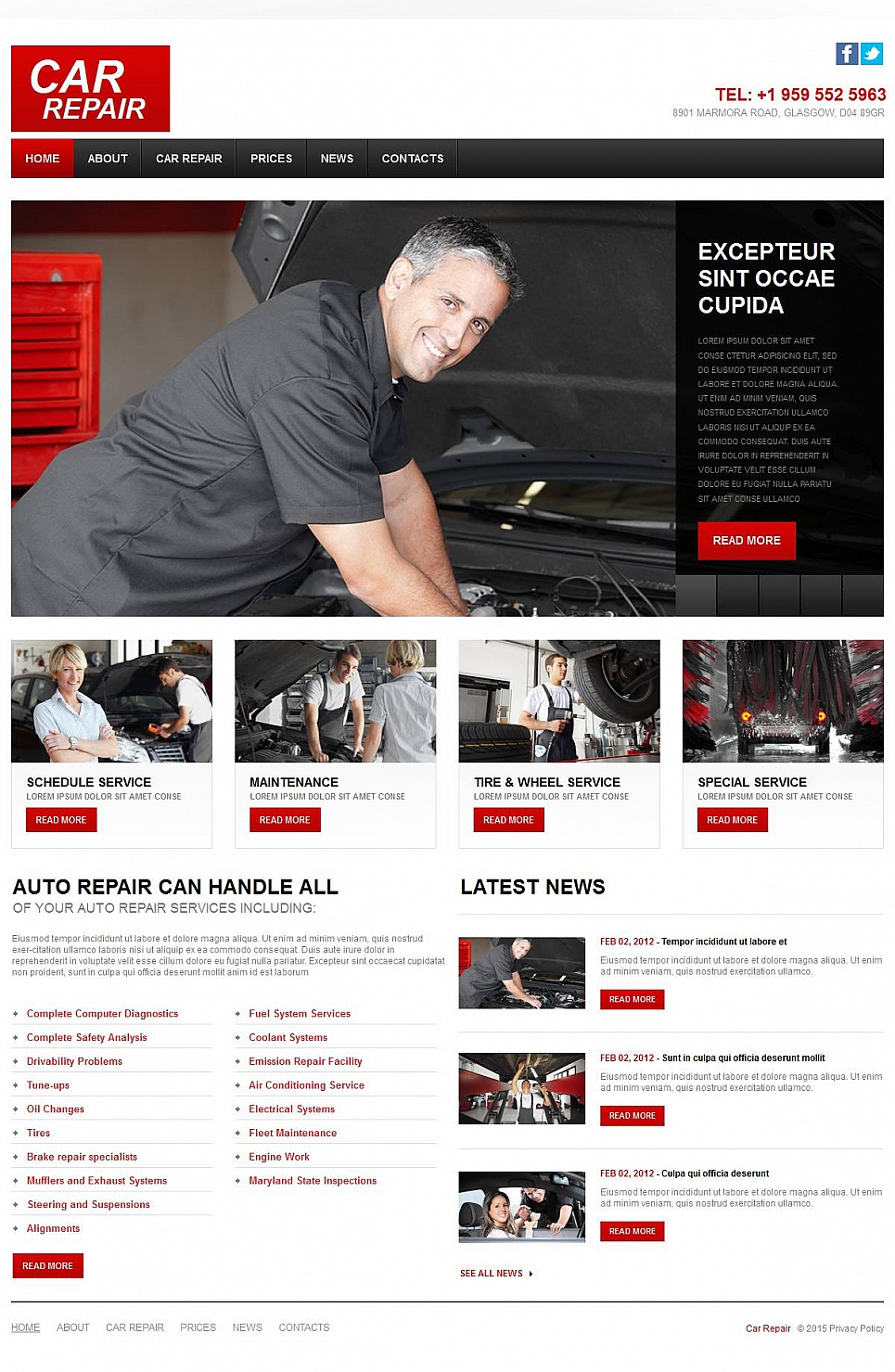 Car Repair Web Design - image