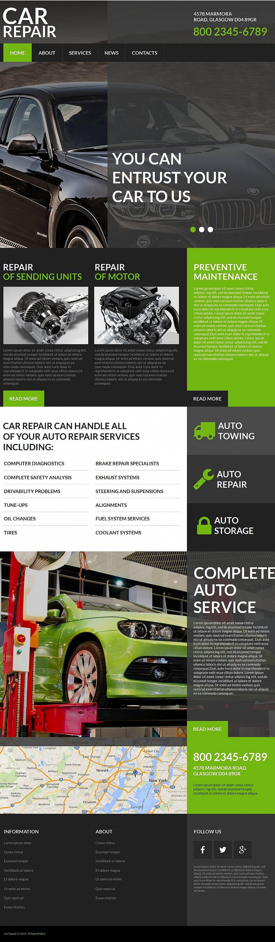 Car Repairing Web Design - image