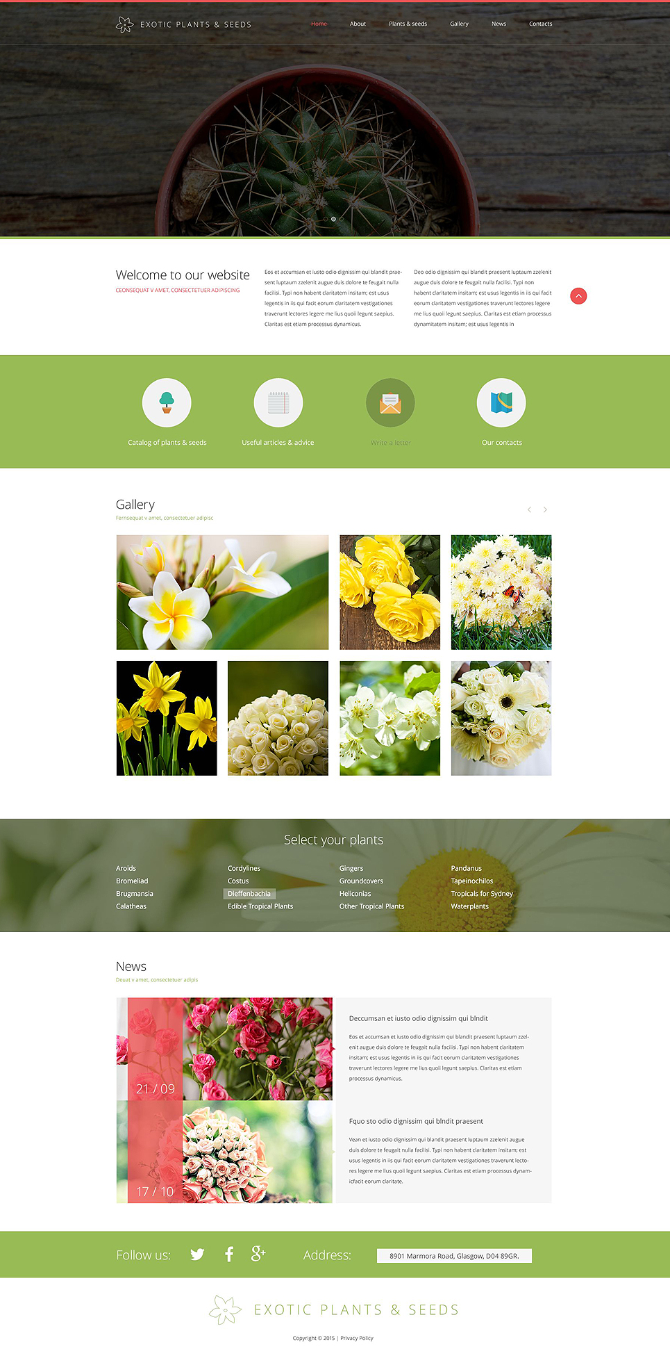 Template 53648 ensegna themes for Online exterior design services