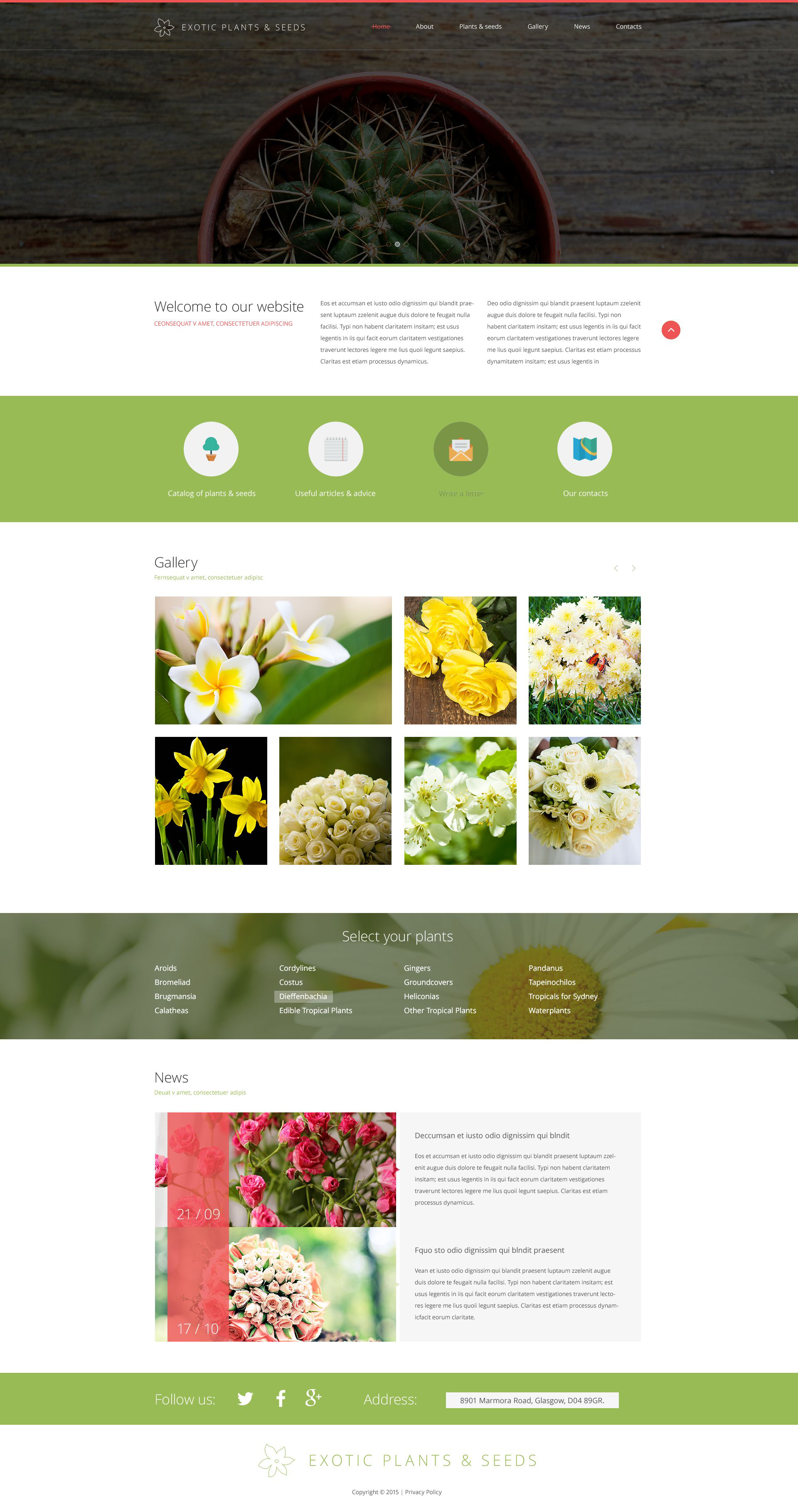website vorlage 53648 f r gartendesign
