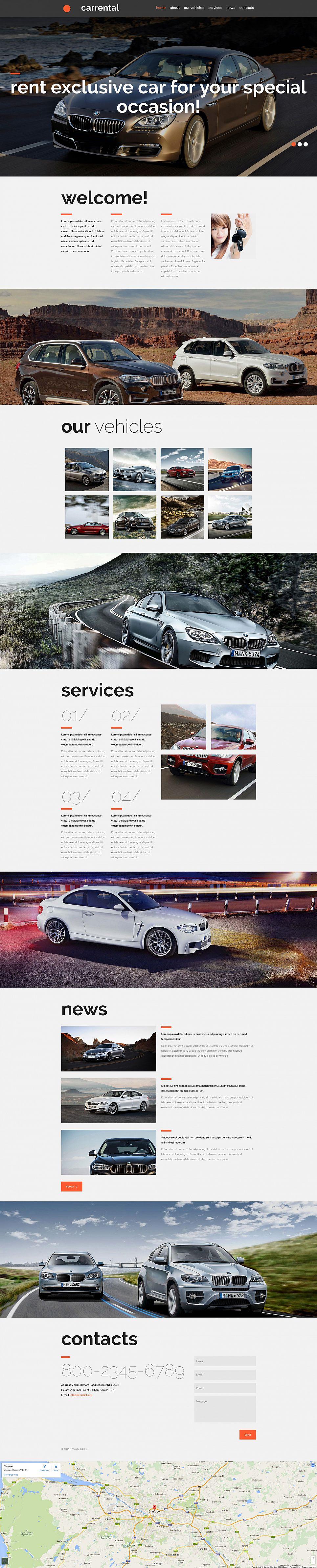 Сайт для фирмы по прокату автомобилей - image