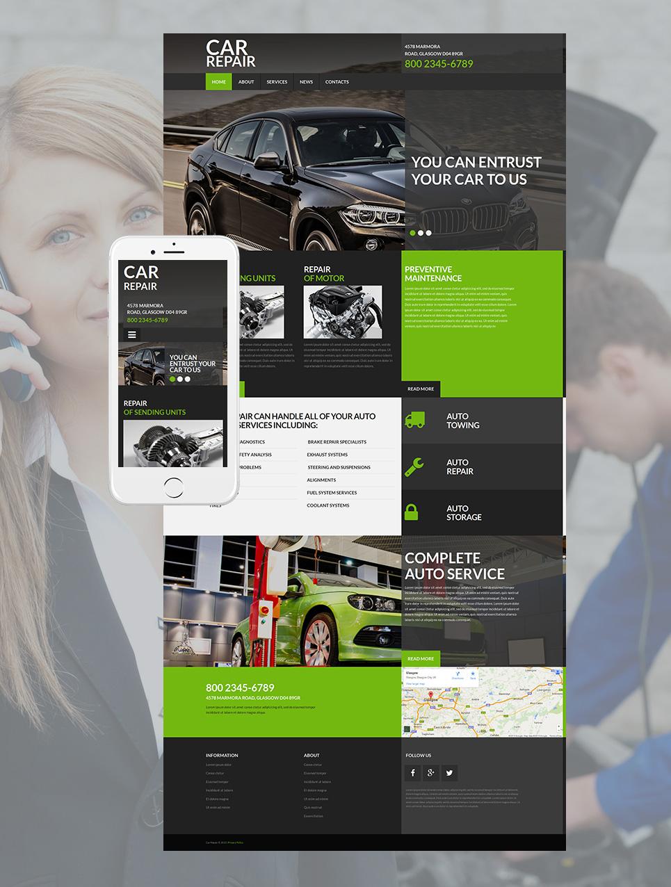 Modernes Design für eine Autowerkstatt - image