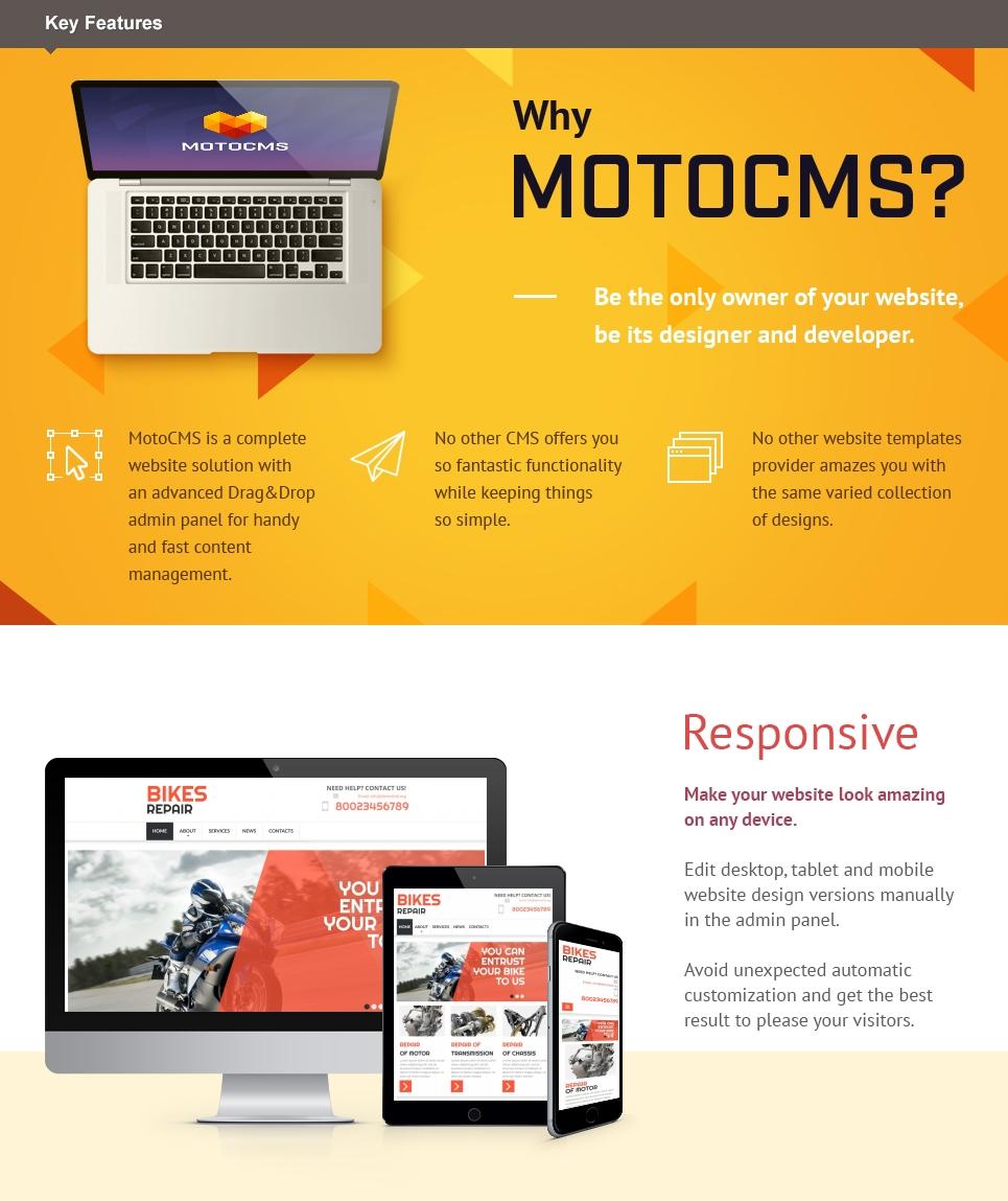 bike shop website builder responsive moto cms 3 template 53726. Black Bedroom Furniture Sets. Home Design Ideas
