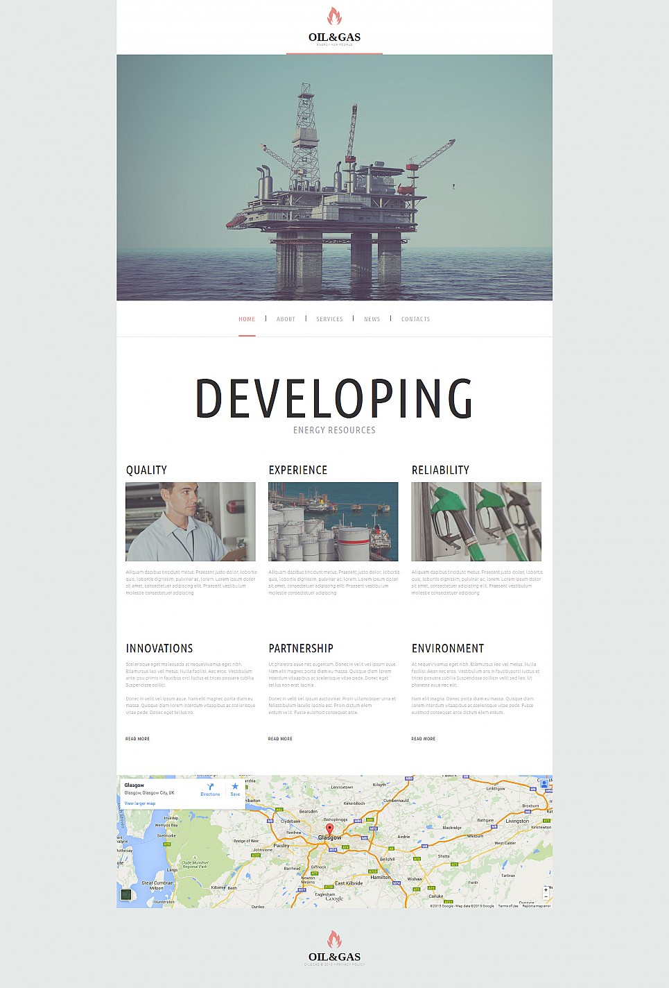 Gas Supplier Site Template - image