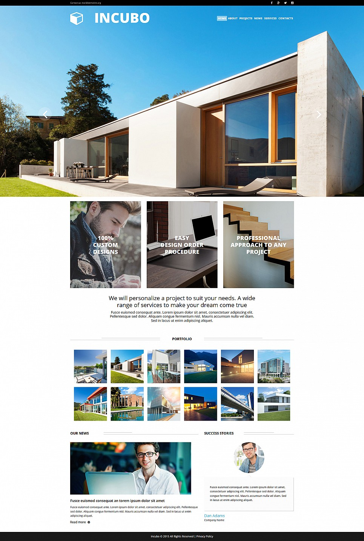 Шаблон для сайта-визитки архитектора - image