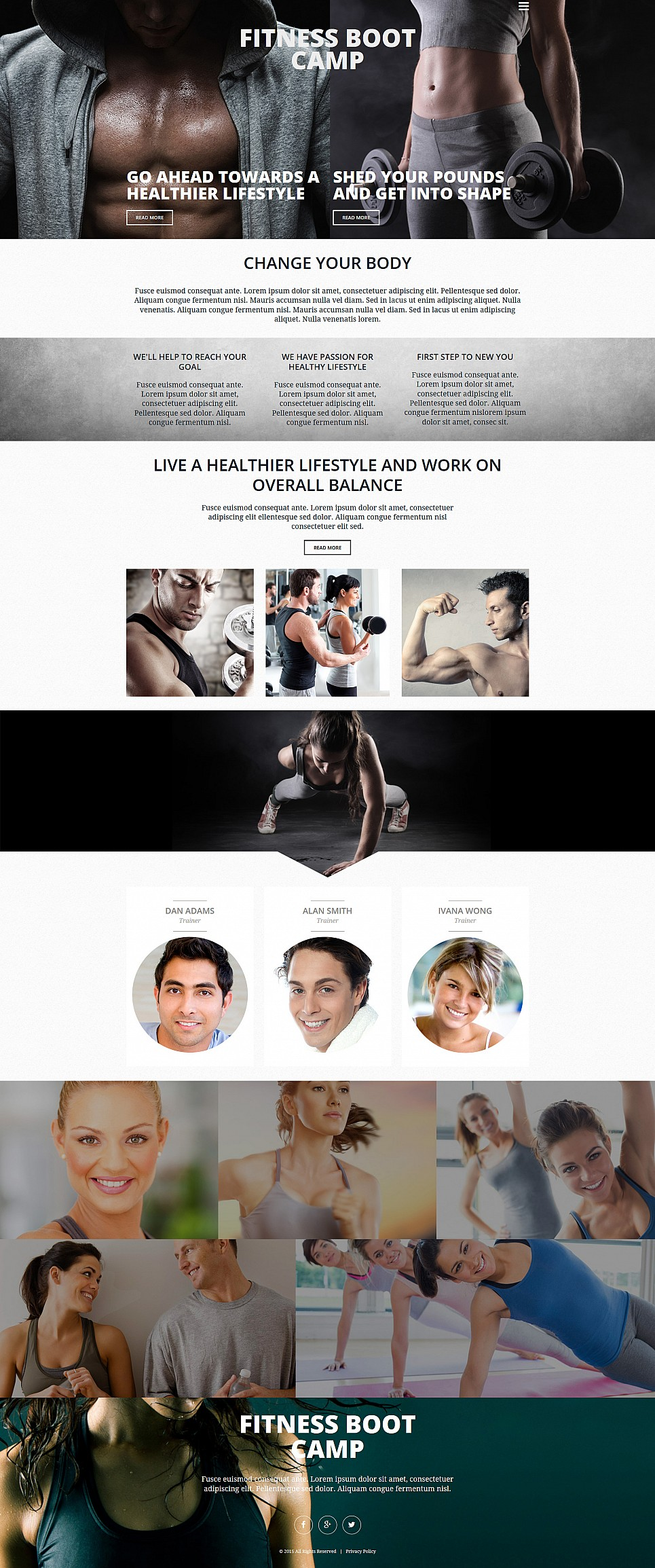 Fitness Site Design - image