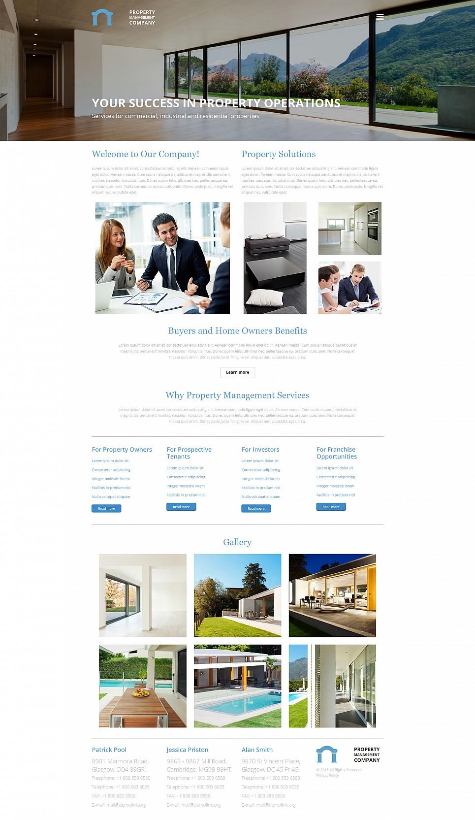 Plantilla del Sitio Web de un Agente inmobiliario - image
