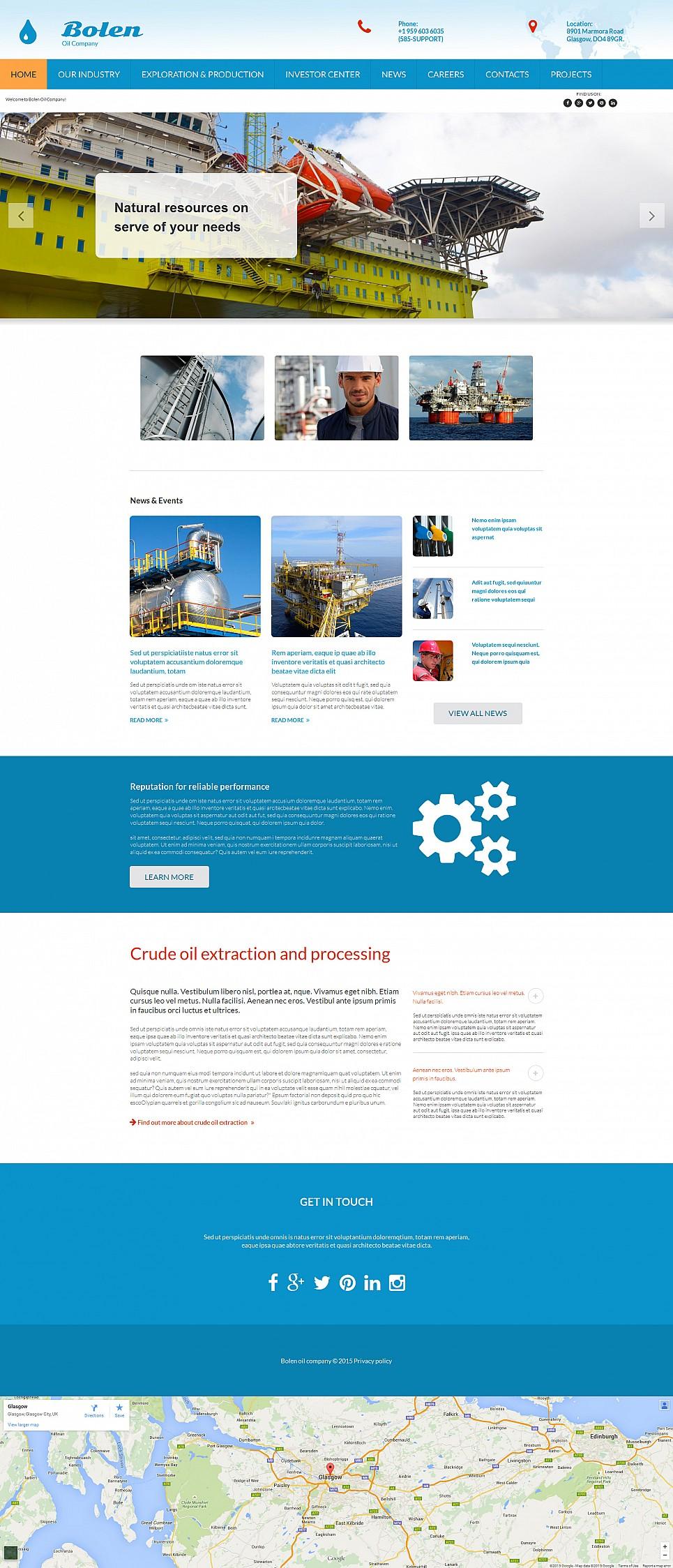 Website Design for Oil Company - image