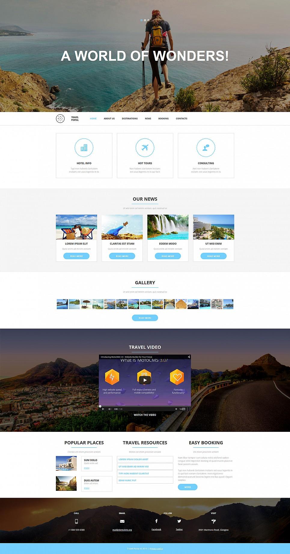 Шаблон сайта для туристического агентства - image
