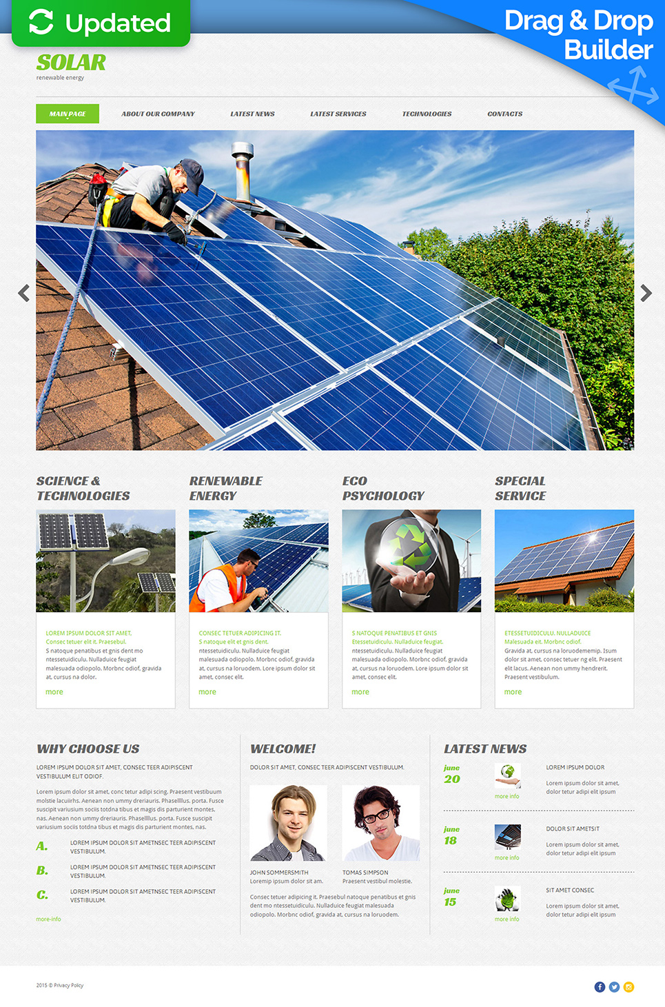 Сайт для производителя солнечных батарей - image