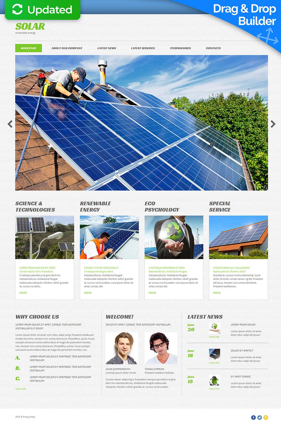 Website Design for Solar Energy Company - image