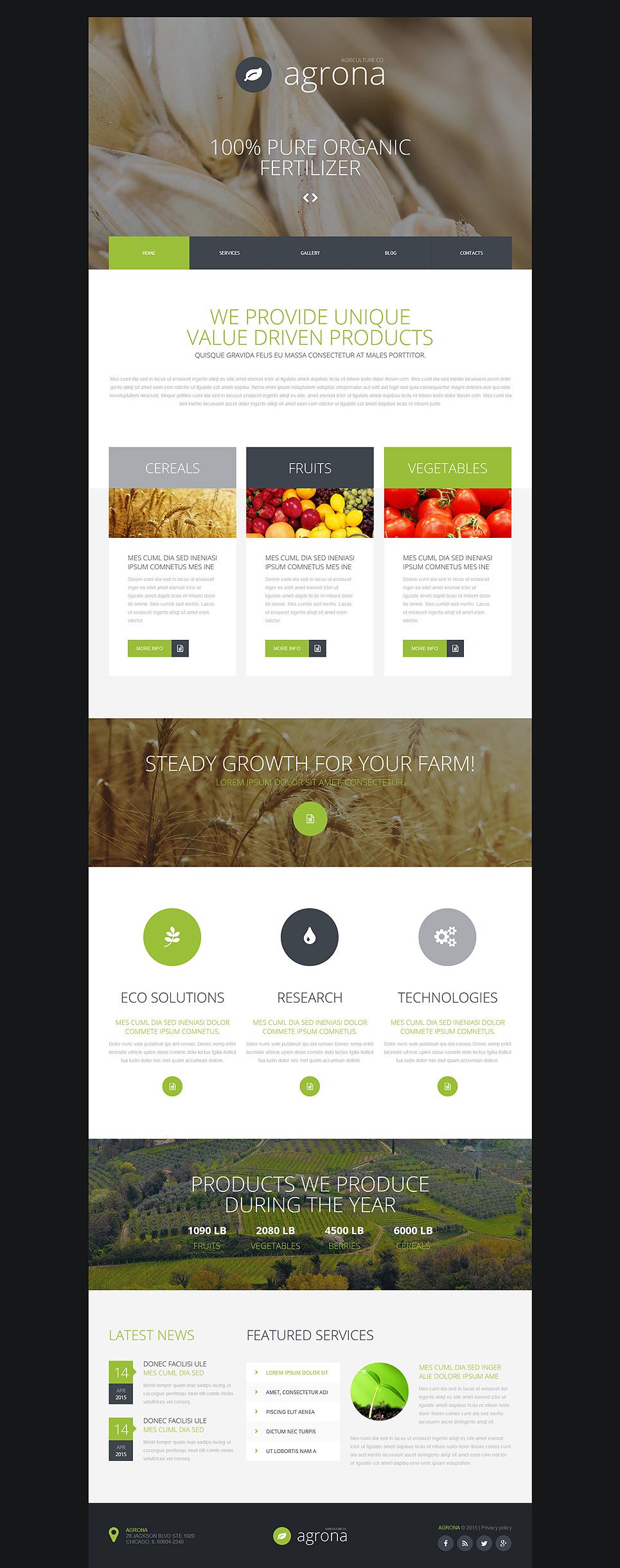 Fantastic Agriculture Joomla Template