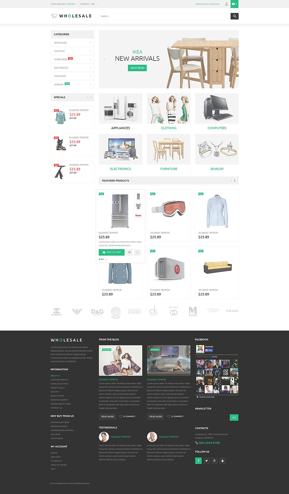 The Specific Online Warehouse Magento Theme