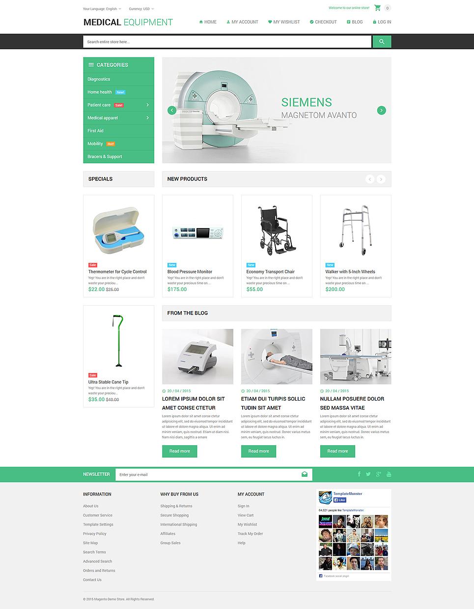 The Unique Medical Stuff Store Magento Theme
