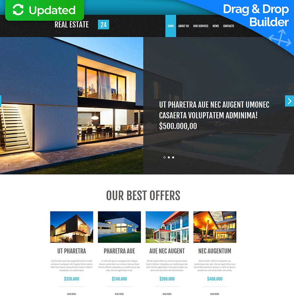 Homepage-Vorlage mit schönem Design für ein Immobilienunternehmen - image