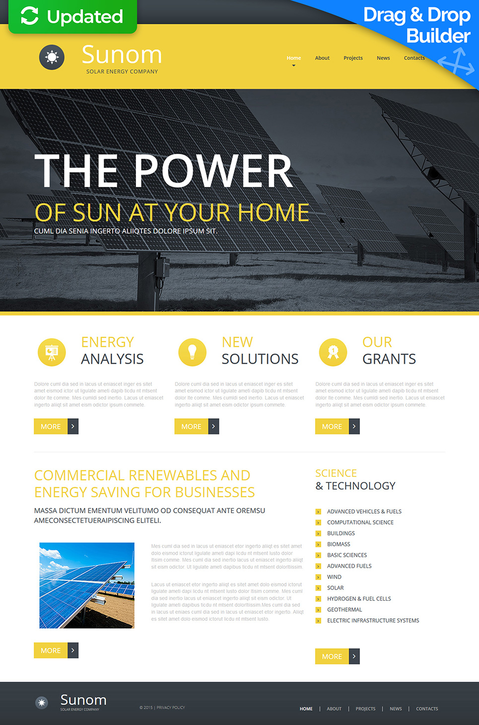 Home Solar Energy Site Design - image