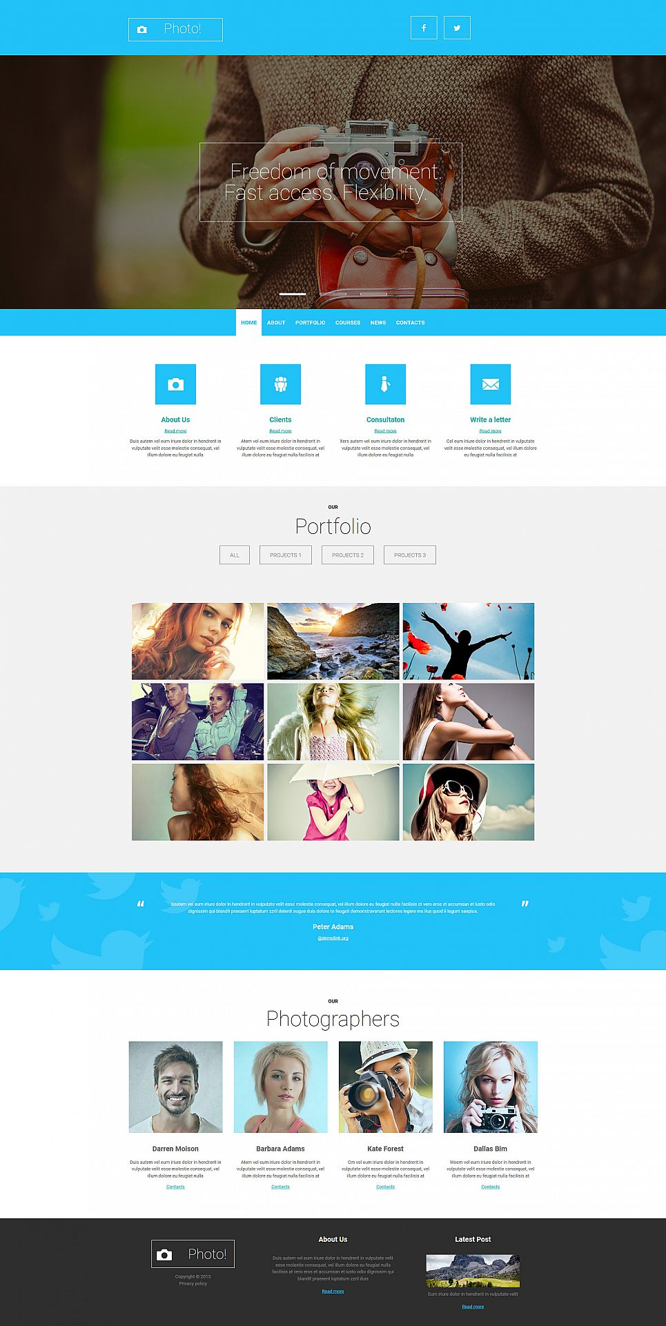 Responsive Photography Website Design - image