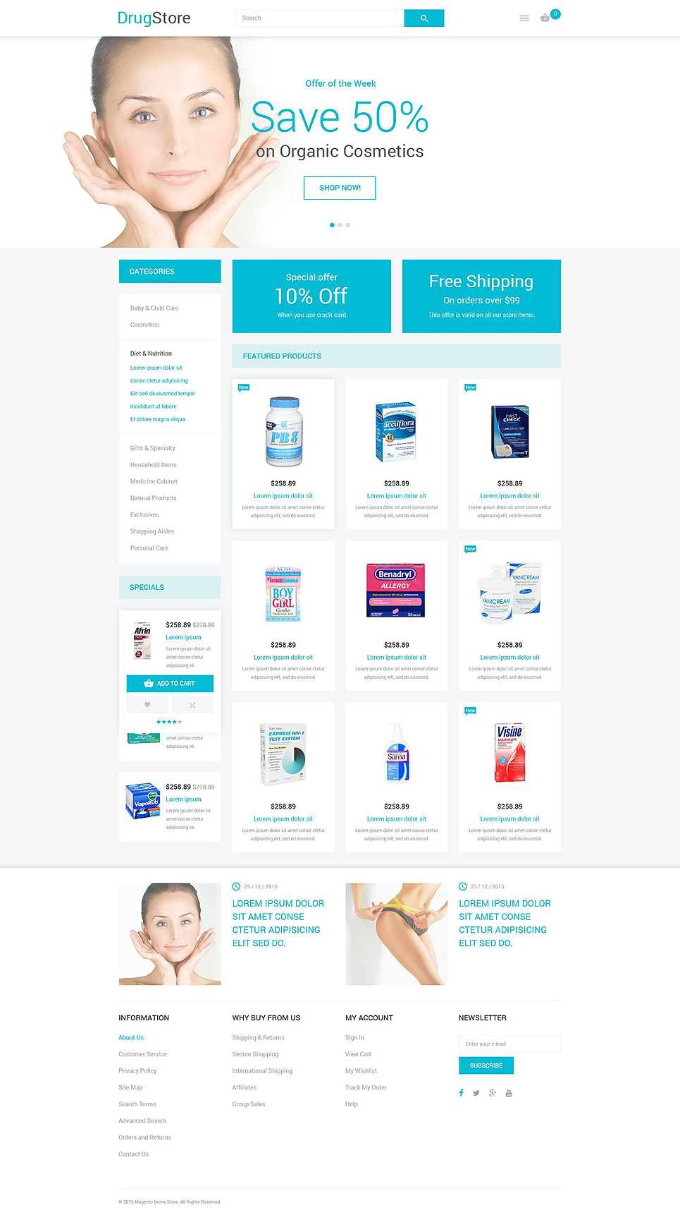 The Special Drugstore Magento Theme