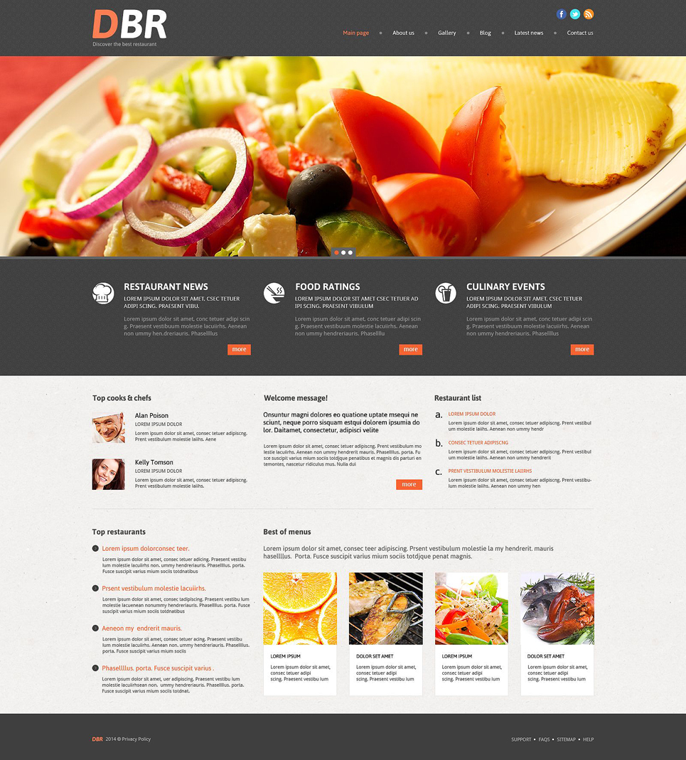 DBR - Responsive European Restaurant WordPress Theme