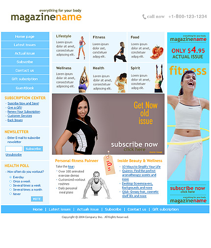 Sports News Website Template aHomepage photoshop